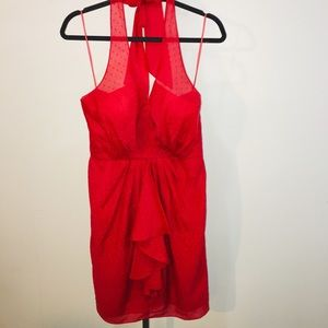 Vince Camuto Red Halter dress size 6